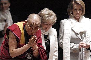 Dalai Lama Tom Lantos