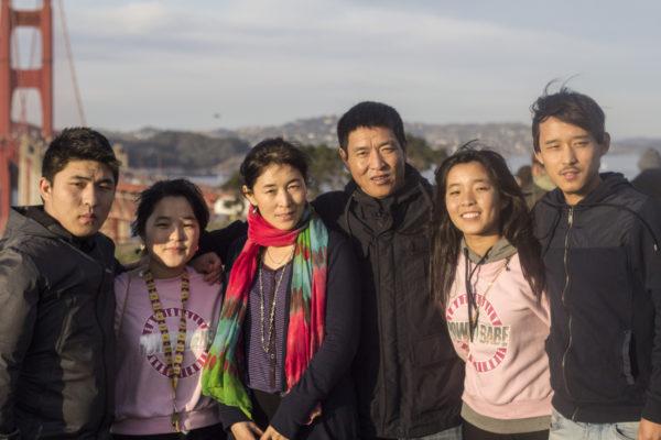 Dhundup Wangchen and family