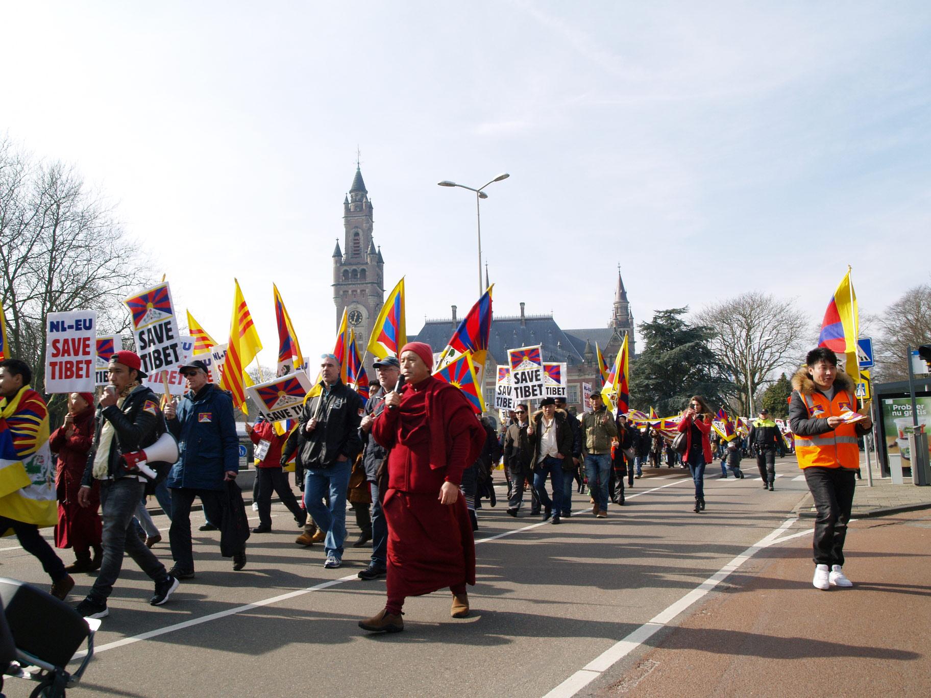 Tibet demonstratie den Haag
