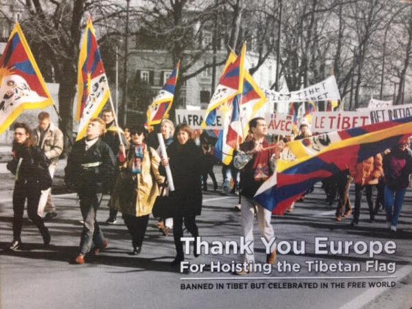 Boek: Thank you Europe for Hoisting the Tibetan Flag