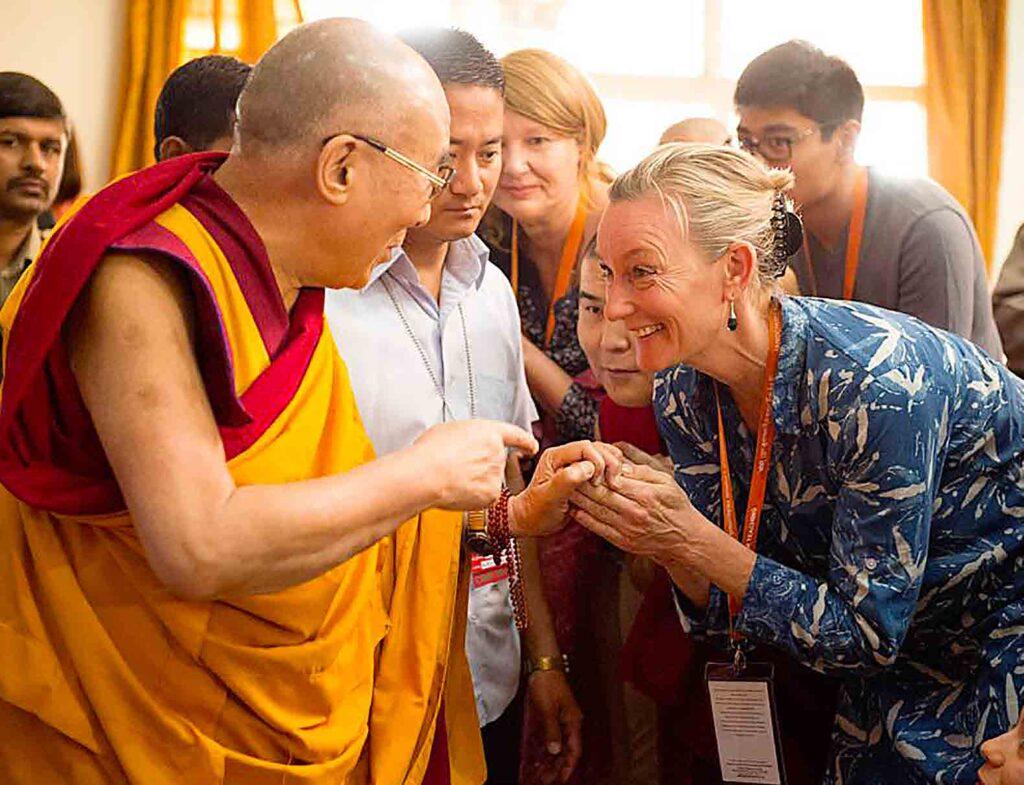 Christa Meindersma heeft de Dalai Lama vaak ontmoet