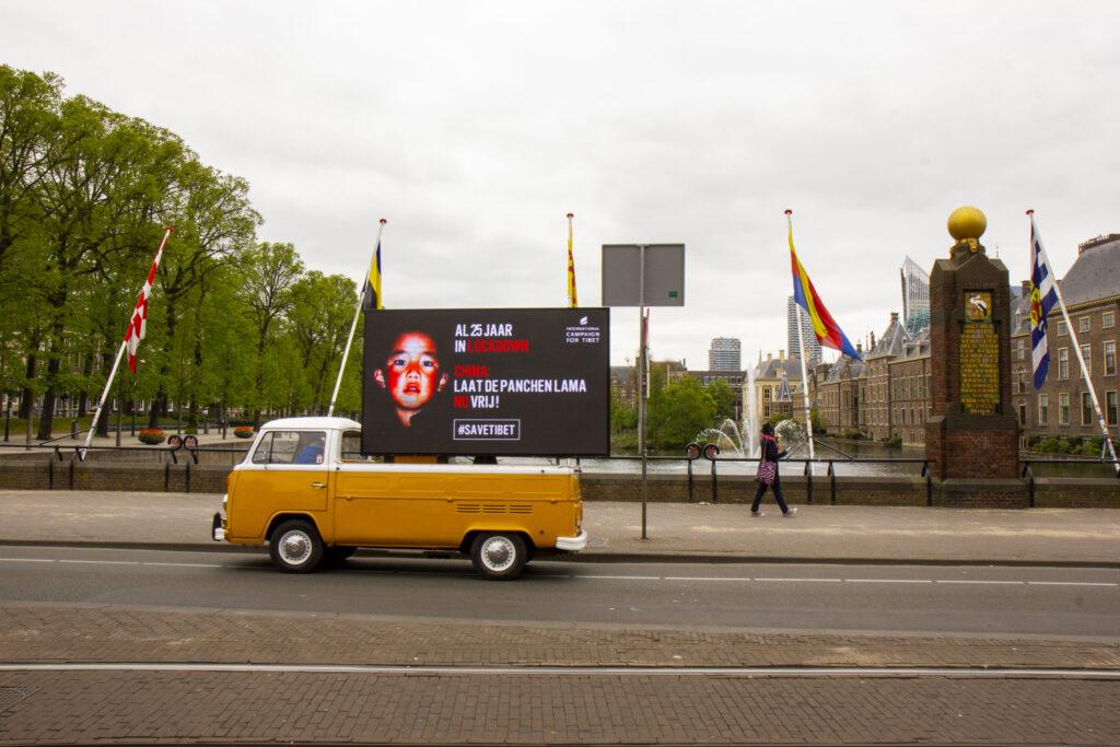 'Al 25 jaar in lockdown, China: Laat de Panchen Lama NU vrij!', #SaveTibet
