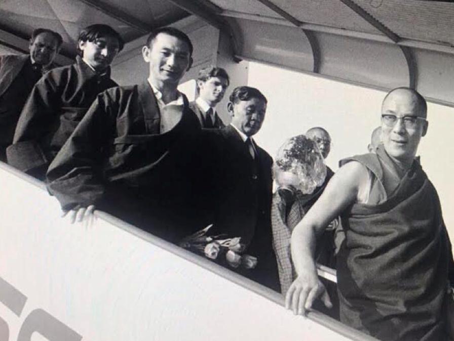Jonge Dalai Lama en Michiel van Walt van Praag in Zurich