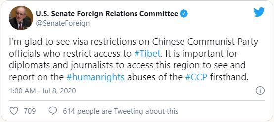 Tweet Senator Foreign Relations Committee