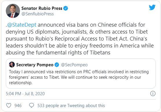 Tweet Senator Rubio