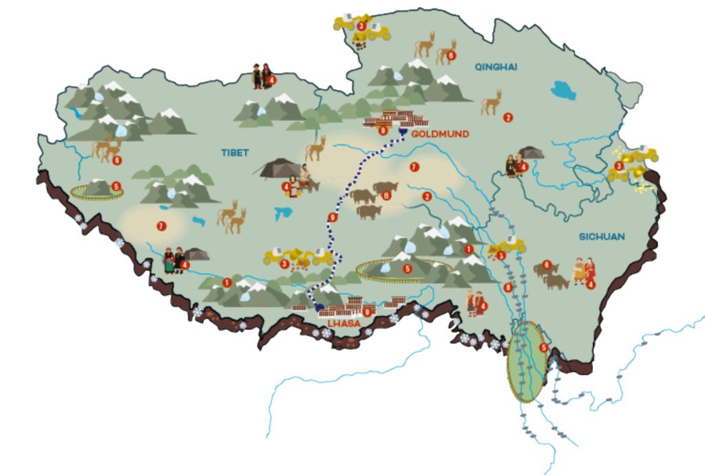 ICT's Poster van de klimaatproblemen op het Tibetaanse plateau