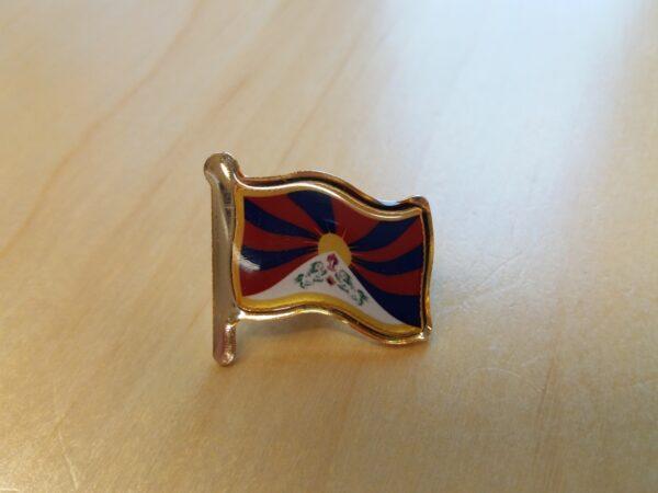 ICT broche Tibetaanse vlag