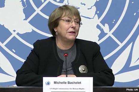 VN Hoge Commissaris van de Mensenrechten Michelle Bachelet